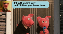 Seine Opfer sind schon wegen einer SMS völlig aus dem Häuschen: Frank Underwolf droht den drei Schweinchen (Screenshot)