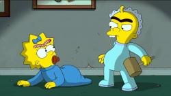 Maggie Simpson und ihr Erzfeindbaby. Vielleicht ein Schnullerstreit? (Foto: Screenshot YouTube / https://i.ytimg.com/vi/BTGkmnZSxvY/maxresdefault.jpg)