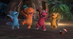 Im neuen Kinofilm lernen Kokosnuss, Oskar und Mathilda den Wasserdrachen Wokki kennen (Universum Film)